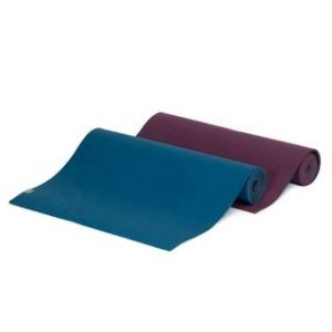 Yoga mat turquoise-antraciet extra lang